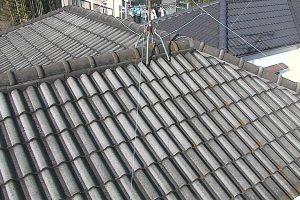 奈良県生駒市 屋根洋瓦に20年持つガイナで塗り替え