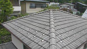 奈良県宇陀市 25年以上無塗装のモニエル瓦の屋根調査