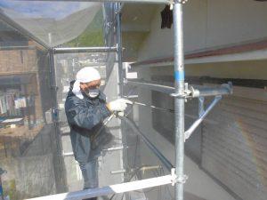 奈良県宇陀市I様 外壁塗装工事 高圧洗浄2