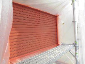 奈良県橿原市 雨戸塗装 さび止め塗装1