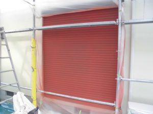 奈良県橿原市 雨戸塗装 さび止め塗装2