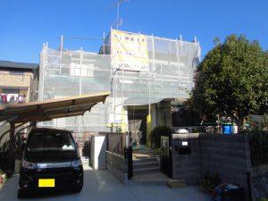 宇陀市 外壁塗装の足場・洗浄・養生の工程