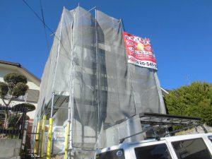 奈良県橿原市 外壁塗装用足場