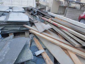 三重県名張市 スレート屋根の解体4