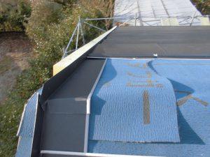 奈良県吉野郡 屋根カバー工法工事 ガルバリウム鋼板を張る5