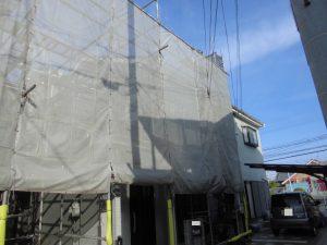 奈良県橿原市 屋根外壁塗装用足場