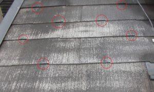 奈良県橿原市 スレート屋根に縁きり材タスペーサーを入れる3