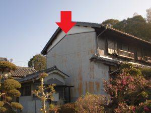 奈良県桜井市 外壁の漆喰が落ちる1