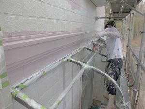 名張市 断熱遮熱ガイナを塗装2