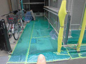奈良県橿原市 外壁屋根塗装前の養生2