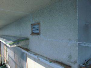 名張市 シリコン樹脂の塗装前のモルタル外壁に下塗り塗装