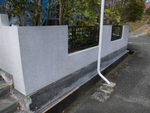名張市 15年持つシリコン塗料をブロック塀に塗装工事