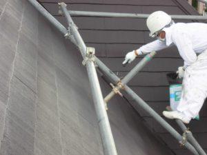 奈良県橿原市 水性シリコン塗料を屋根に塗装工事