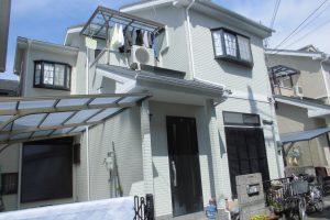 橿原市 外壁に20年長持ちする断熱セラミックガイナ塗装