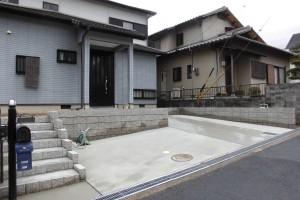【駐車場を1台から2台分置ける工事・外構工事】三重県名張市S様邸 駐車場工事