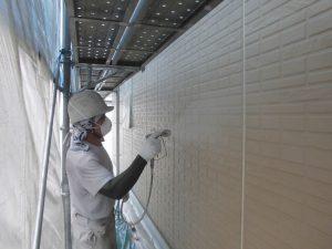 奈良県宇陀市S様邸 外壁下塗り(1回目)塗装