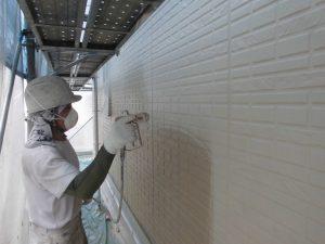 奈良県宇陀市S様邸 外壁中塗り(2回目)塗装