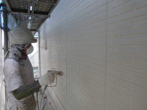 奈良県宇陀市S様邸 外壁上塗り(3回目)塗装