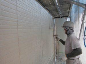 奈良県宇陀市S様邸 外壁上塗り(3回目)塗装2