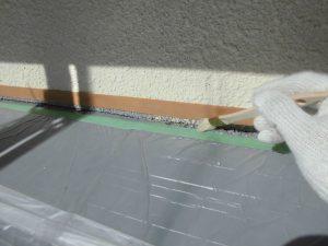 奈良県宇陀市シーリング前のプライマー塗布