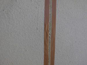奈良県宇陀市シーリング前の養生テープ張り2