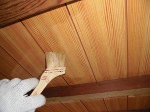 奈良県宇陀市U様 外壁塗装 玄関の木部塗装 クリア塗装