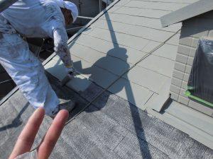 奈良県橿原市 屋根にガイナ塗装1
