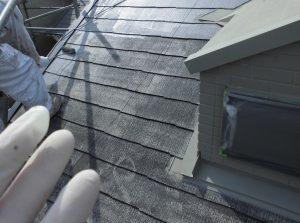 奈良県橿原市 スレート屋根下塗り塗装2回目2