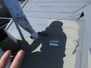 奈良県橿原市 屋根にガイナ塗装2