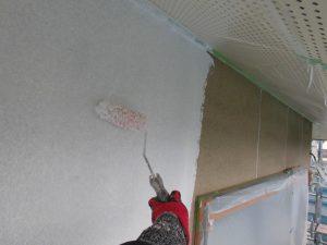 奈良県宇陀市 外壁のひび割れに強い下塗り材で塗装