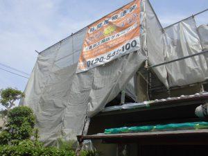 橿原市 外壁塗装の足場