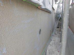 奈良県橿原市 外壁に水性カチオンシーラー塗装2