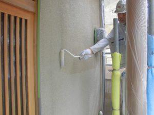奈良県橿原市 外壁に水性カチオンシーラー塗装1