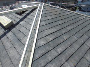 奈良県宇陀市 屋根棟下地と雨漏り防止の捨て水切取付工事