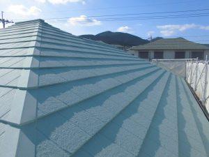 名張市 屋根にガイナ塗装6