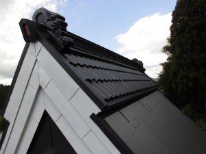 奈良県宇陀市S様 ガルバリウム波板の屋根重ね葺き完成