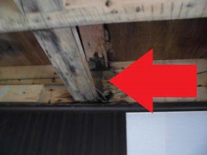 三重県名張市 台所の上の雨漏り2