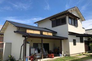 【奈良県高取町】外壁塗装|モルタル壁に20年持つ断熱セラミックガイナを外壁塗装
