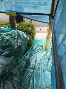 【外壁塗装・外壁修理】奈良県宇陀市A様邸 外壁塗り替え下塗り・中塗り・上塗り塗装です。