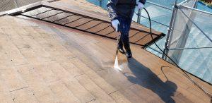 橿原市 耐用年数20年のガイナを屋根に塗装リフォーム