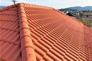 名張市 耐用年数20年のガイナを屋根に塗装リフォーム