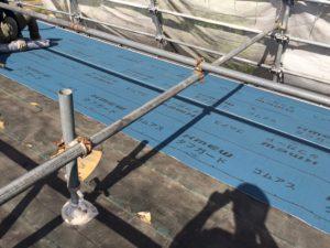 【屋根工事,屋根葺き替え,瓦工事】奈良県宇陀市T様邸 防水シート(ルーフィング)張りと横桟打ち