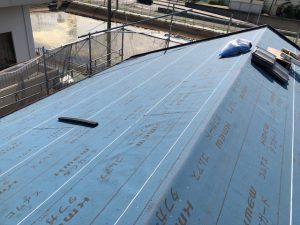 橿原市 屋根リフォーム前に防水シートと水切で雨漏り防止