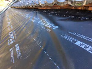 奈良市 防水シート張り2