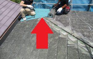 【屋根重ね葺き,屋根工事,屋根リフォーム】奈良県橿原市T様邸 屋根重ね葺き工事が始まりました。(ルーフィング防水紙を張ります)