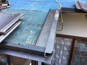 奈良県桜井市 屋根工事 水切り取り付け2