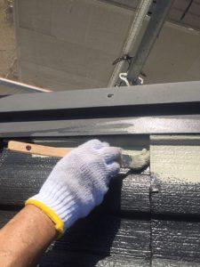 三重県名張市屋根にガイナ塗装2