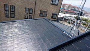 奈良県橿原市 屋根塗装 中塗り完成2