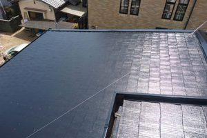 橿原市 スレート屋根に水性ヤネフレッシュシリコンを塗装