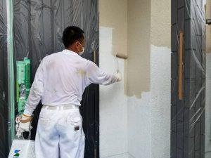 橿原市 16年長持ちの高耐久シリコン塗料を外壁に塗装